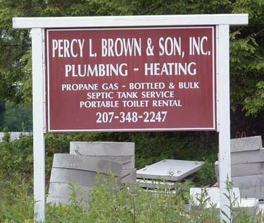Percy L. Brown & Son sign